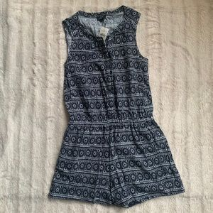 Ann Taylor Loft Petite Romper with Pockets